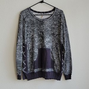 Pete Collection Pullover Lace Up Side Sweater XL